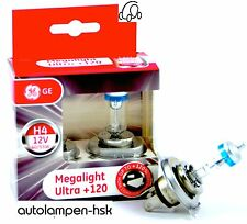 GE General Electric H4 MegaLight Ultra +120% mehr Licht 2 ST ++TOP ANGEBOT++