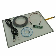 "USB Touch Screen Kit Set DIY Smart Panel Resistive Monitor For Dell 510 15"" inch"