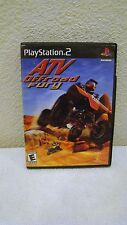 2001 Sony Playstation 2 - ATV Off Road Fury E for Everyone Video Game, Complete