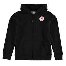Converse Girls Chuck Patch Zip Hoody Black/pink 12-13 Years