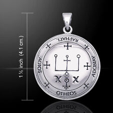Sigil of the Archangel Raphael .925 Sterling Silver Pendant by Peter Stone