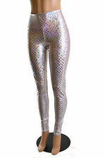 2XL Baby Pink Metallic Mermaid Scale High Waist Spandex Leggings Ready To Ship!