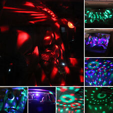 USB Auto Car Disco DJ Stage Lighting LED RGB Rotation Ball Lamp Light DJ Party