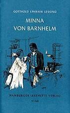 Minna von Barnhelm oder das Soldatenglück von Gotthold Ephraim Lessing