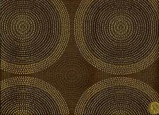 Arc/com Shibori Bark Woven Modern Contemporary Circles Brown Upholstery Fabric