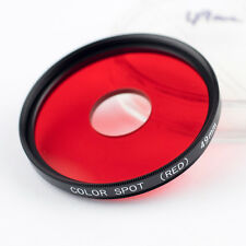 *OPT. MINT* 49mm COLOR SPOT (RED) GLASS FILTER + KEEPER. (COLOUR)