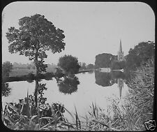 Glass Magic Lantern Slide PARISH CHURCH STRATFORD ON AVON C1890 PHOTO ENGLAND