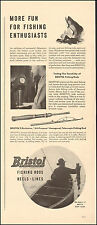 Vintage ad for Bristol Fishing Rods, Reels and Lines Fish Photo (012117)