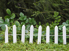 Miniature Dollhouse FAIRY GARDEN Furniture ~ Mini Off-White Iron Fence Pick