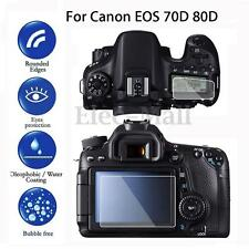 Tempered Glass LCD Screen Protector Kit Film Cover For Canon EOS 70D 80D Camera