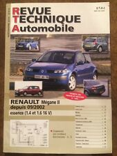Revue Technique Automobile RENAULT Megane II Essence (1,4 et 1,6 16V)