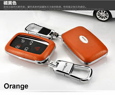 Auto Remote FOB Leather Key Cover Case  For Land Rover Range Rover Sport