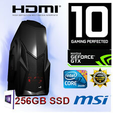 Gamer-PC-Intel Core I7 6700K-16GB RAM-256GB SSD-3GB Geforce GTX1060-1TB-WIN10