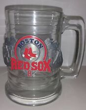 Boston Red Sox Glass Stein Mug, steel emblem