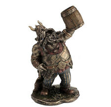 "7"" Viking Warrior Toasting the Dead w/ Mug Norse Decor Statue Sculpture Decor"
