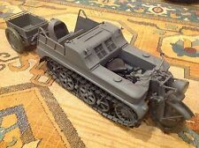 DID WWII GERMAN KETTENKRAD 1/6 SCALE MILITARY VEHICLE W/TRAILER PANZER GRAY NIB