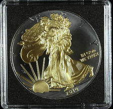2014 Golden Enigma Walking Liberty 1 Oz Silver Eagle Ruthenium Great Details!!!!