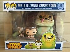 Funko Pop! Star Wars Slave Leia, Jabba the Hutt Salacious B Crumb 3-pack *RARE