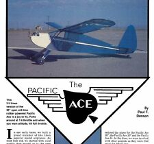 74 inch  RCM  Pacific Ace     Oldtimer   RC Balsa AIrplane Printed Plans