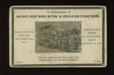 Warwks Birmingham Saltley Perry Bar steam tram remembrance 1907 PPC VERY POOR