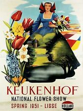 ADVERTISING EXHIBITION FLOWER SHOW KEUKENHOF LISSE NETHERLANDS POSTER LV802