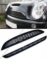 01-06 Mini Cooper R50 R52 R53 Front Upper Lower Glossy Blk Honeycomb Mesh Grille