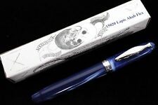 NOODLERS LAPIS INFERNO AHAB PISTON FLEX NIB FOUNTAIN PEN