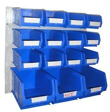 NEW PLASTIC PARTS STORAGE BIN KIT BK71 BLUE - 12xTC2 & 3xTC3 & LOUVRE PANEL