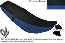 Negro Y Azul Real Custom Fits Yamaha Wr 125 R X 09-13 Doble Cuero Funda De Asiento