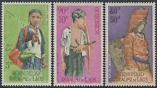 LAOS PA N°43/45** Ethnies, TB, 1965, MNH