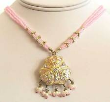 Dazzle in Handcrafted Lakh Pendant Necklace Moghul Motif Jaipur Art