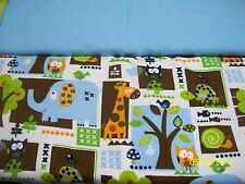 Elephant Turtle Giraffe Baby Blanket Can Be Personalized Double Sided 36x40