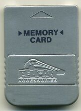 PELICAN PS1 MEMORY CARD Silver; Playstation 1