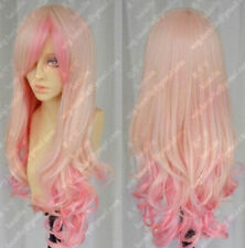 A7 Cos light blonde/ pink mix Can Heatin long curly cosplay full wig Z774