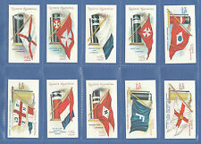 SHIPPING - 100 SETS OF 50 OGDEN'S ' FLAGS & FUNNELS OF STEAMSHIPS '  - REPRINTS