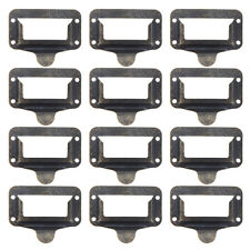 12X Furniture Cupboard Door Cabinet Drawer Cup Card Holder Tag Pull Handle Knob