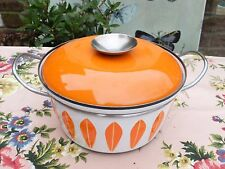 VINTAGE CATHERINEHOLM ENAMEL SAUCEPAN - ORANGE