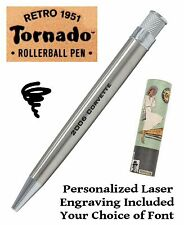Retro 51 #VRR-1315 / Personalized Lacquered Stainless Tornado Pen