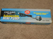 Chicago Electric Submersible Mini Fountain Pumps NEW IN BOX