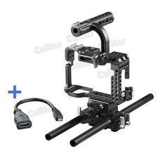 Professional Movcam DSLR 15MM Baseplate Cage For Sony A7S Camera Video Black+HDM