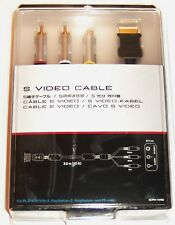 OFFICIAL SONY PS1 PS2 PS3 3 Mtr 10 Ft S-Video GOLD Cable / Lead TV AV Connection
