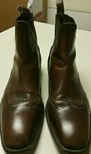 C. EVERETTE HIGH TOP LEATHER BOOTS / SHOES SZ US 12 EU 45 MADE IN PORTUGAL GUC