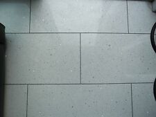 WHITE STARDUST QUARTZ FLOOR TILES X 5 (300MM X 600MM) (NEW IN BOX)