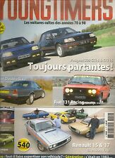YOUNGTIMERS 10 PEUGEOT 309 GTI 16 DAIMLER DOUBLE SIX FIAT 131 RACING R15 R17