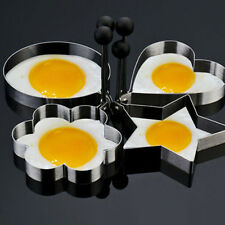 4pcs/Set Edelstahl Frying Cooking Rings Perfect for Fried Eggs Omelette Mold