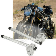 2× CNC Chrome Motorcycle Handle Bars 35mm Clip-On For Honda Aprilla Ducati BMW