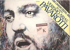 PAVAROTTI Verismo Arias digital LP SEALED! ~De Fabritiis/Chailly~Greve cover art
