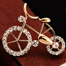 Lovely New Brooch Pin Fashion Bike Buckle Bicycle Pectoral Flower Brooches Pin E