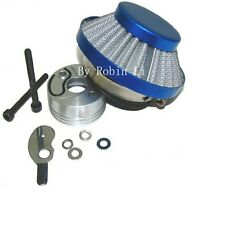 Blue RACING AIR FILTER KIT Vstack Choke Velocity Stack For Goped 23cc Bigfoot
