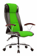 Office Desk Racing Gaming Chair  Adjustable Leather Swivel High Back For Comfort